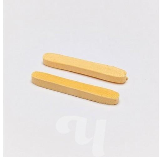 Губки прессованные натуральные целлюлоза (гладкая текстура) 12шт./уп