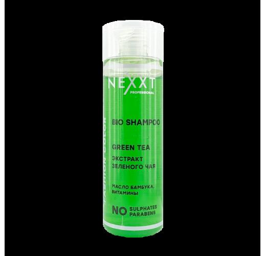 NEXXT Шампунь био зеленый чай с маслом листьев бамбука 200мл