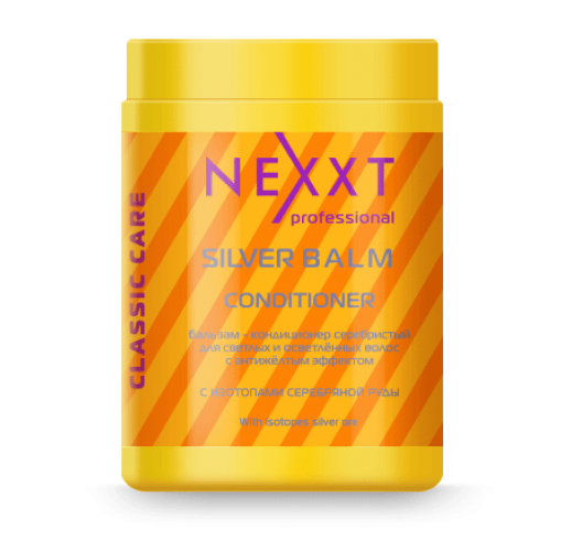 NEXXT Бальзам-кондиционер серебристый для светлых и седых волос с антижелтым эффектом 1000мл