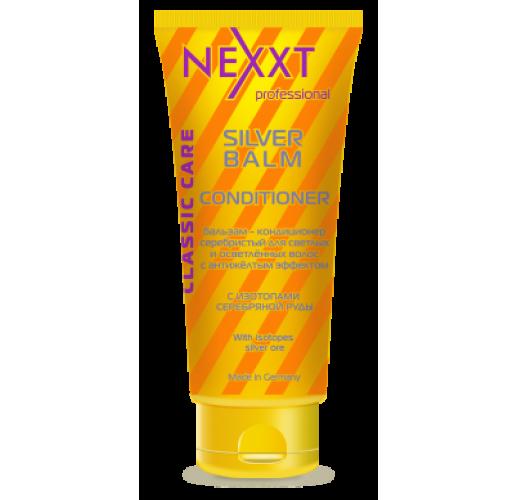 NEXXT Бальзам-кондиционер серебристый для светлых и седых волос с антижелтым эффектом 200мл
