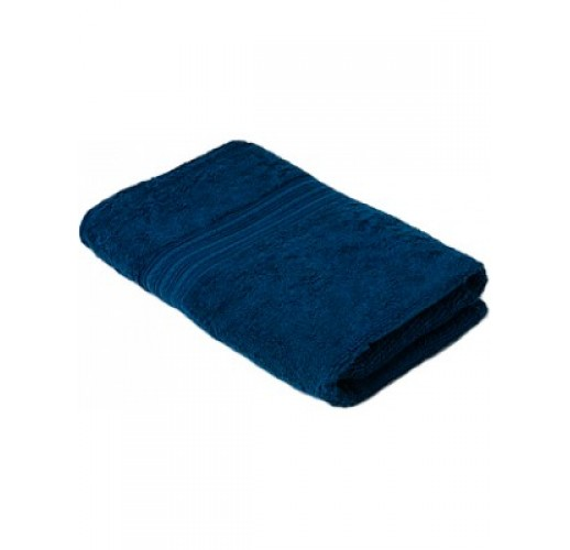 Полотенце махровое 50 х 90 Темно-синее (1 шт)