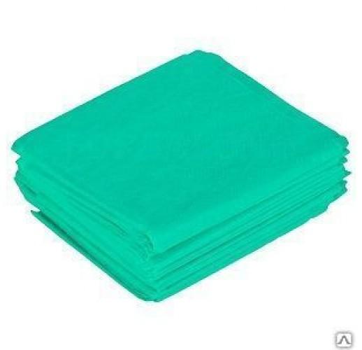 Простыня люкс спанбонд 200 х 90 Зеленый (10 шт)