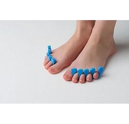 Разделители для пальцев 8 мм (20 пар) Голубой