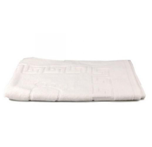 Коврик махровый белый (ножки) 50х70 см  (1 шт)