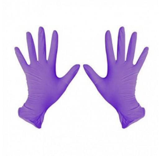 Перчатки нитриловые BENOVY сиреневый L (100 шт/уп)