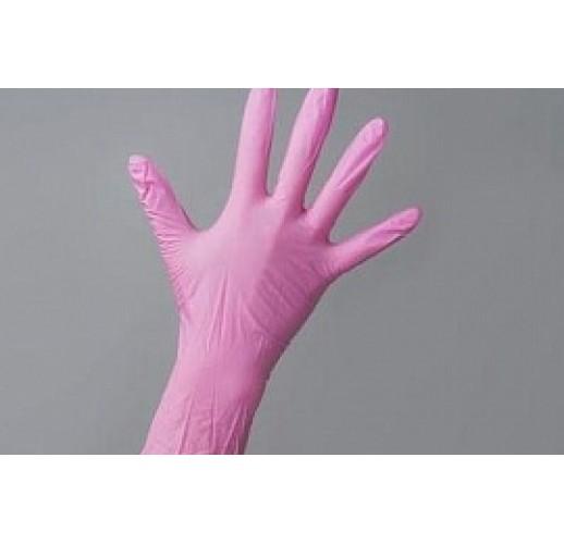 Перчатки нитриловые BENOVY Розовые S (100 шт/уп)
