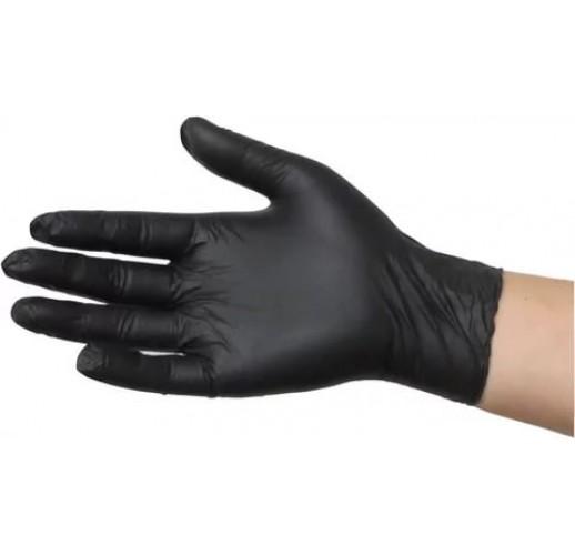 Перчатки нитриловые BENOVY Черный S (100 шт/уп)